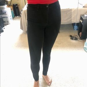 Black High-Rise Super Skinny Hollister Jeans
